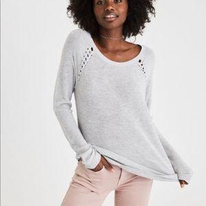 American Eagle Shoulder Stitch Sweater